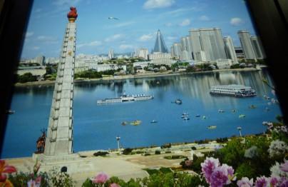 Ge-photoshoptes Nordkorea. Nordkorea-Stand. Expo Milano 2015
