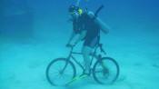 Taucher auf Bike